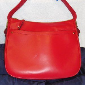 Cole Hahn Leather Cherry Red Barbados Talia Hobo